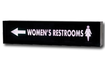 directional restroom series